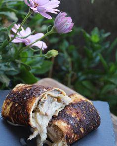 Seguimos con las #recetas #singluten  #panqueques rellenos con #champiñones y #cebollacaramelizada  quedan deliciosos! La #receta con fotos del paso a paso en el blog www.cherrytomate.com  link directo a la receta en el perfil  para que la receta sea #paleo hay que remplazar la crema por crema de #coco usar leche de #almendras o coco y #ghee en vez de mantequilla..y ok #whole30 #paleodiet #vegetarian #recipe #paleoblog