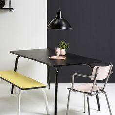 Table à manger en formica Vera Les Gambettes -Noir