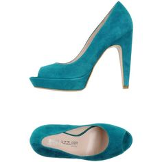 Linea Azzurra Court ($100) ❤ liked on Polyvore featuring shoes, pumps, deep jade, leather shoes, leather footwear, genuine leather shoes, animal shoes and open toe shoes