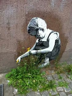 When street art combines with nature.