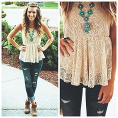 simple lace and teal