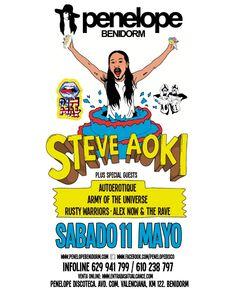 Steve Aoki en Penelope Benidorm 11-5-2013