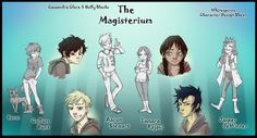 Call, Tamara & Aaron from the Magisterium The Iron Trial by Cassandra Clare and Holly Black (Drawn by http://whitespirit.deviantart.com)