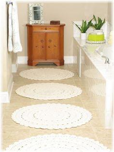 Crochet Rugs for bathroom