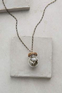 Pyrite Jar Necklace - anthropologie.com