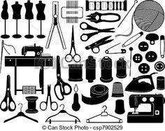 Vector - sastrería, equipo - stock de ilustracion, ilustracion libre de, stock de iconos de clip art, logo, arte lineal, retrato de EPS, Retratos, gráficos, dibujos gráficos, dibujos, imágenes vectoriales, trabajo artístico, Arte Vectorial en EPS