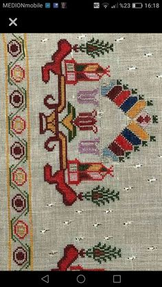 This post was discovered by TC Türkan Çetinkaya. Discover (and save!) your own Posts on Unirazi. Wool Embroidery, Cross Stitch Embroidery, Embroidery Patterns, Cross Stitch Patterns, Patchwork Quilting, Quilts, Palestinian Embroidery, R80, Turkish Art