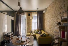 Detalhe do candeeiro de teto - Ingenious Apartment Design Based on the Idea of Constant Motion in Kiev