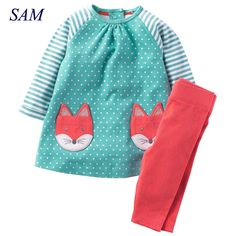 Cheap tracksuit for girls, Buy Quality kids brand tracksuit directly from China kids tracksuit Suppliers: Baby Girls Clothes Children Clothing Sets 2017 Brand Kids Tracksuits for Girls Sets Animal Pattern Baby Girl School Outfits Girls Christmas Outfits, Winter Outfits For Girls, Toddler Girl Outfits, Boy Outfits, Summer Girls, School Girl Outfit, School Outfits, Clothing Patterns, Clothing Sets
