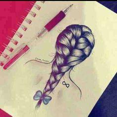 Braid Hair Drawing