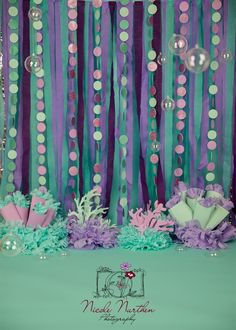 Party ideas mermaid backdrops Ideas Party ideas mermaid backdrops IdeasYou can find Little mermaid parties and more on our website. Mermaid Theme Birthday, Little Mermaid Birthday, Little Mermaid Parties, Mermaid Baby Showers, Baby Mermaid, Baby Shower Mermaid Theme, Mermaid Diy, Girl Shower, Jasmin Party