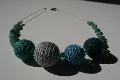 HAND CROCHET NECKLACE by TheThreeCrocheteers on Etsy