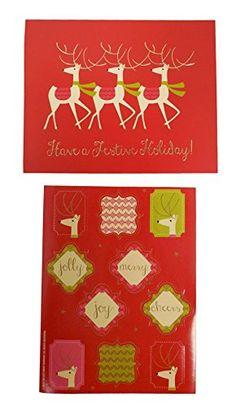 The Gift Wrap Company Boxed Holiday Cards, Medium, Happy ... https ...