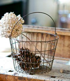 Large Vintage Ornate Wire Egg Basket | etsy.com Wire Egg Basket, Wire Baskets, Vintage Country, French Vintage, Houston Living, Bountiful Baskets, Home Fix, Chicken Wire, Guest Towels