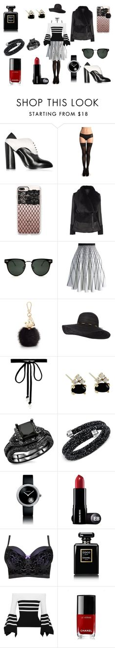 """Untitled #6"" by raven-lilith-ackerman on Polyvore featuring Jil Sander, Casetify, Spitfire, Chicwish, Furla, Joomi Lim, Swarovski, Chanel and Rosetta Getty"