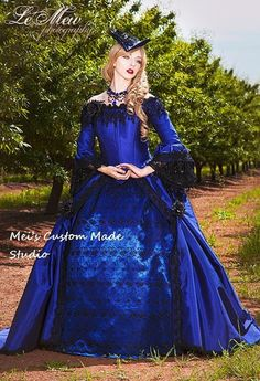 Cheap dress up wedding gowns, Buy Quality gown fashion directly from China dresses feathers Suppliers: Custom Made Theater&Period Dress Blue Valentina Gothic Romantic Off Shoulder Fantasy Gothic Victorian Gown Floral Wedding Gown, Blue Wedding Dresses, Wedding Gowns, Victorian Gown, Victorian Fashion, Vestidos Vintage, Vintage Dresses, Fantasy Gowns, Fantasy Clothes
