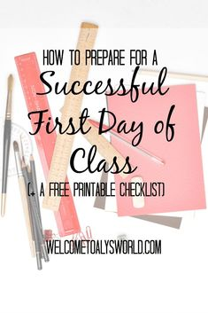 How to Prepare for a Successful First Day of Class (+ A Free Printable Checklist!) – Welcome to Aly's World How to Prepare for a Successful First Day of Class (+ A Free Printable Checklist!) – Welcome to Aly's World University Checklist, College Checklist, College Hacks, Revision Tips, Essay Tips, First Day Of College, First Day Of Class, Study Skills, Study Tips
