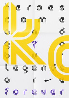 timeless design 6d239 df088 Display typeface for NBA basketball player Kobe Bryant, an initiative that  saw the font used across his Nike product range. The design of the typeface  is ...