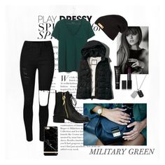 A fashion look from February 2016 featuring pocket shirts, pocket vest and high rise skinny jeans. Browse and shop related looks. Military Green, Emporio Armani, Abercrombie Fitch, Giuseppe Zanotti, Madewell, Fashion Looks, Skinny Jeans, Nars Cosmetics, Polyvore
