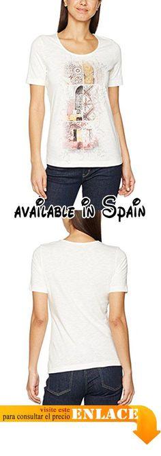 B01MFB1STQ : Gerry Weber Front Graphic Print Camisetas para Mujer  Multicoloured (Ecru/White/