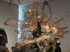 Lee Bontecou. I believe she is the inspiration of steampunk.