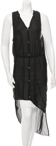 Helmut Lang Sheer High-Low Tunic Helmut Lang, Dress Outfits, Dresses, High Low, Just For You, Tunic, Stylish, Clothing, Tops
