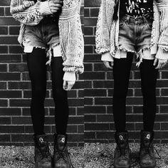 tights and shorts