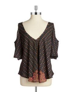Asymmetrical Cold-Shoulder Top Design Lab, Lord & Taylor, Go Shopping, Stitch Fix, Cold Shoulder, Blouse, Tops, Women, Fashion