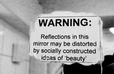 """riotisnotquiet: """" handsthatmold: """" I don't think I've ever been able to see myself for who I really am. """" [A greyscale photograph of a sign taped to a mirror, with the words """"WARNING:. The Words, Quotes To Live By, Me Quotes, Sarcastic Quotes, Wisdom Quotes, Quirky Quotes, Funny Sarcastic, Quotes Images, Quotable Quotes"""