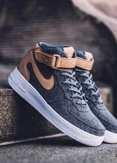 91fb8251fd4 Felt x Leather Air Force 1 07 Mid Premium Nike Jordans Women
