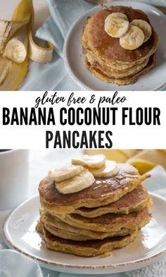 Paleo Banana Coconut Flour Pancakes Paleo Banana Coconut Flour Pancakes, a gluten free dairy free pancake recipe for fluffy paleo banana pancakes made with coconut flour. Paleo Pancakes Coconut Flour, Dairy Free Pancakes, No Flour Pancakes, Coconut Flour Recipes, Whole30 Pancakes, Healthy Banana Pancakes, Pancakes Made With Banana, Coconut Flour Banana Bread, Waffles