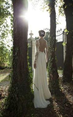 grande immagine 3 Abiti da Sposa Barchetta Elegante Formale Naturale A-Line
