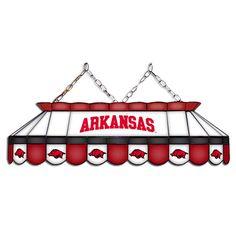 Arkansas Razorbacks MVP Stained Glass Lamp