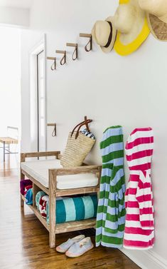Bright and playful interiors characterizes this Westhampton beach house