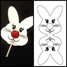 Ostern Bastelideen Bunny Lollipop, # OsterBastelideenBunny # b … - Frohe Ostern Easter Party, Easter Gift, Easter Bunny, Bunny Crafts, Easter Crafts For Kids, Easter Ideas, Rabbit Crafts, Spring Crafts, Holiday Crafts