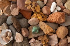 An assortment of stones to make pigment with.  From my new book. Get your signed copy of The Organic Artist directly from me: http://www.nickneddo.com/shop/the-organic-artist-book  photo© Susan Teare