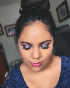 Purple and silver Purple, Makeup, Silver, Make Up, Money, Makeup Application, Purple Stuff, Beauty Makeup, Diy Makeup