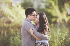 Wedding PR, Wedding Public Relations, WEdding Marketing Expert, Jon Kim photography, outdoor engagement session ideas, lake, woods, greige heels, cardigan, jeans, boots, early fall engagement ideas, bridge, Echo Park engagement session