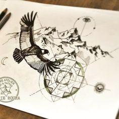 #tattooproject #tattoosketch #marieroura #epureatelier #tattooart #tattooartist #forcalquier #chakana #condor New Tattoos, Tatoos, Spiritual Tattoo, Andean Condor, Azteca Tattoo, Inca Tattoo, Cd Art, Tattoo Project, Tattoo Sketches