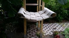 Outdoor Hängematte für Katzen aus Feuerwehrschlauch. outdoor hammock for cats with fire hose recycling