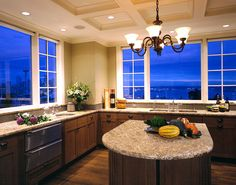 This Seattle kitchen by Prestige Custom Builders makes you want to spend all your time cooking, but those views would make it hard to concentrate.