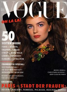 Vogue Germany August 1987 - Paulina Porizkova