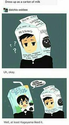 AAAAAHHHH DAICHI IS WEARING A MILK BOX IN HIS HEAD || Credits to the artist