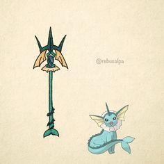 No. 134 - Vaporeon. #pokemon #vaporeon #trident #pokeapon