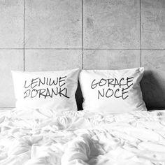 poszewki na poduszki LENIWE PORANKI / GORĄCE NOCE