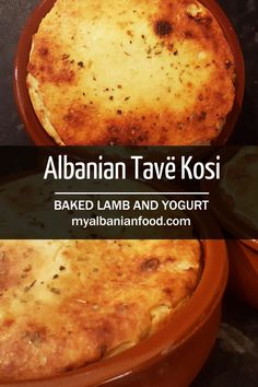An Albanian national dish and some see Tavë Kosi as a comfort food dish. The soft, tender lamb baked with rice, oregano and garlic underneath a yogurt mixture has the most amazing aroma. It's looks impressive when cooking too – the top rises up above the pot then as it cools sinks to create an impressive golden delight.