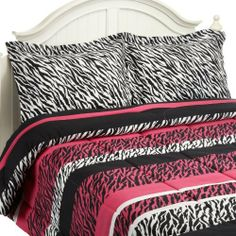 Divatex Home Fashions Jungle Love Zebra Stripe Mini Comforter Set, Black/Pink, Full/Queen by Divatex Home Fashions. $48.98. Super soft brushed microfiber. Comforter mini sets. Machine wash and dry. Do not iron. Fashion zebra. Enter into the exotic world of the modern jungle with this contemporary black/white/hot pink zebra print on super soft brushed microfiber. Each set includes a comforter and 2 shams 1 sham on twin, The sets are available in a twin 66 by 86-in...