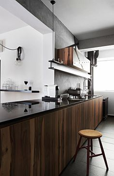 Modern Kitchen Hdb this industrial hdb flat is edgy yet cosy | singapore, display and