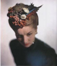 sculptural couture hat | Lilly daché hat,photo: E.Steichen for Vogue USA, 1946