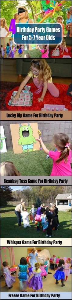 4 Birthday Party Games For 5-7 Year Olds